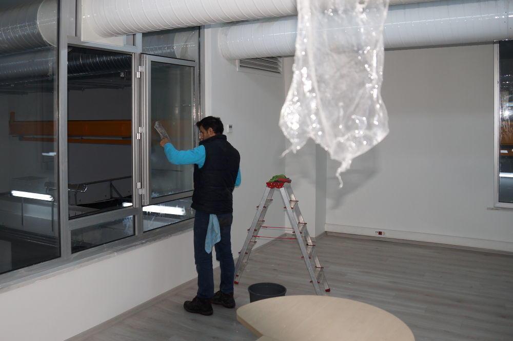boş daire cam temizliği