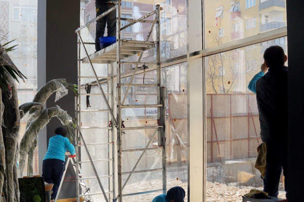 inşaat sonu cam temizliği