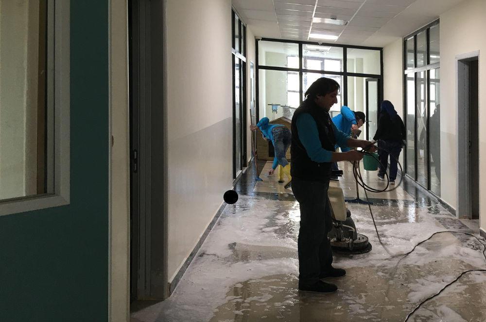 zemin yıkama temizlik hizmeti