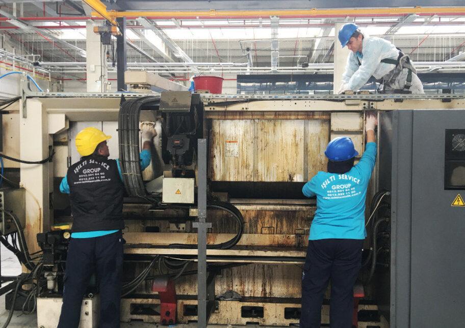 fabrikalarda makine temizliği